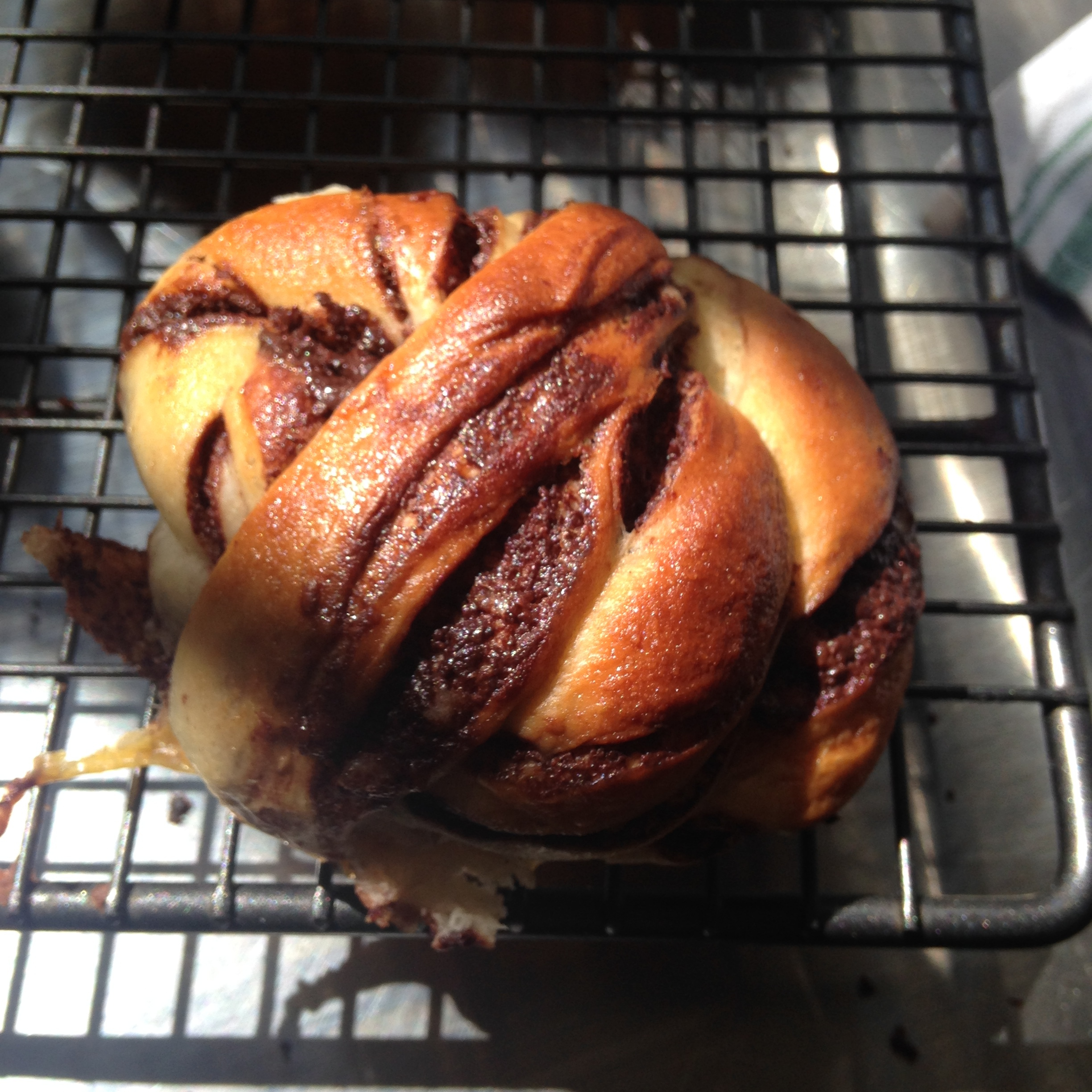 Delicious and beautiful twisted, chocolate buns 1